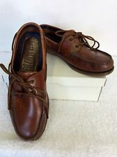 MARKS & SPENCER AMERICAN STYLE BROWN LEATHER LACE UP SHOES SIZE 9.5/ 43.5