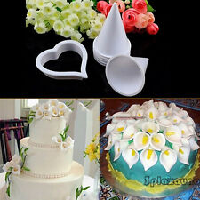 Cake Decorating Tool Sugar Fondant Gum Paste Icing Calla Lily Flower Cutter Mold