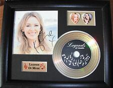 Kylie Minogue Preprinted Autograph, Gold Disc & Plectrum Presentation