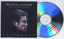 MICHAEL JACKSON Visionary: The Video Singles UK 5-trk promo test CD sampler