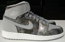 Air Jordan 1 Retro Hi Premium Size 7 Youth 7Y GS Wolf Grey Shoe 819664-004