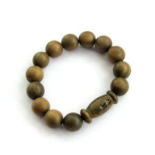 Sandalwood Buddha Word Sutra Inside Prayer Beads Tibet Buddhist Mala Bracelet