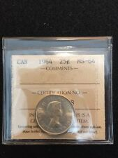 1964 Canada Silver  Quarter 25 Cents Uncirculated   ICCS  MS64  Certified