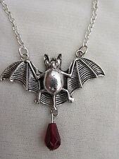 TIBETAN SILVER LARGE BAT NECKLACE