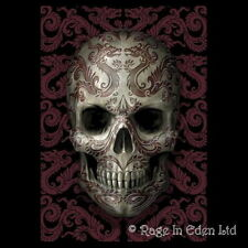 *ORIENTAL DRAGON SKULL* Goth Fantasy Art 3D Postcard By Anne Stokes (15x10cm)