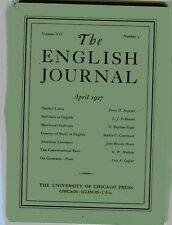 THE ENGLISH JOURNAL April 1927 University of Chicago Sinclair Lewis