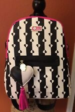 Luv Betsey By Betsey Johnson Women's Fuchsia, Black & White Backpack-NWT-Sweet!!