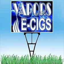 "18""x24"" VAPORS E-CIGS Outdoor Yard Sign & Stake Lawn Smoke Shop Vape Cigarettes"