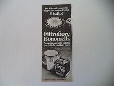 advertising Pubblicità 1981 CAMOMILLA FILTROFIORE BONOMELLI