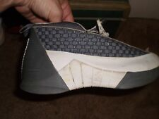NIKE AIR JORDAN 15 (XV) FLINT GREY / WHITE  Sz.5.5 Y 136029-011