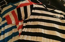 Lot Of Three Men's shirt brand Rocawear sz 3 XL Blk/wh Bl/why Red/wh
