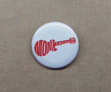 "THE MONKEES Logo Button 1.25"" Badge Pinback Rock Music Guitar Logo Davy Jones"