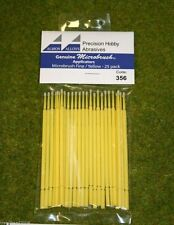 Albion Alloys Microbrush applicators – Microbrush fine/yellow Pack of 25 356