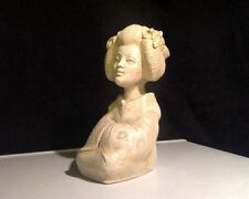 FINE & SIGNED Japanese carved figure/statue LADY GEISHA  Bust/Carved/Stone??