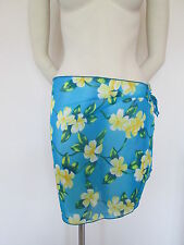BERKETEX TURQUOISE AND YELLOW FLORAL DESIGN, ONE SIZE BEACH WRAP