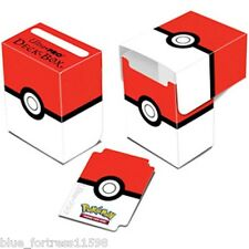 POKEMON POKEBALL RED WHITE ULTRA PRO DECK BOX CARD BOX FOR POKEMON CARDS
