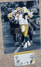 GREEN BAY PACKERS Greg Jennings Signed Brett Favre 421 TD 11x14 PHOTO COA HOLO