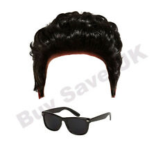 CHILDRENS KIDS 1950S TEDDY BOY GREASE DANNY WIG & SUNGLASSES FANCY DRESS