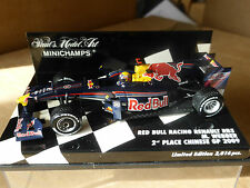 Minichamps 1:43 Mark Webber Red Bull Renault RB5 F1 2009 Chinese GP 2nd place