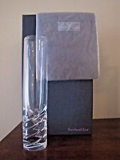 STEUBEN Rope Twist Rose Vase Signed w/ Pouch and Box -Unused Mint Condition ~NIB