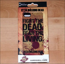 Walking Dead Fight Dead Fear the Living Hardshell Rubber Case Cover iPhone 5 5S