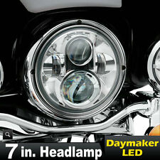 "7"" LED Motorcycle Projector Daymaker Light Headlight For Harley Heritage Softail"