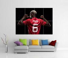 PAUL POGBA MANCHESTER UNITED MAN UTD FC GIANT WALL PHOTO PIC PRINT POSTER