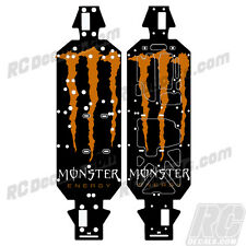 LOSI 5IVE T 4WD TRUCK CHASSIS PROTECTOR WRAP GRAPHIC ORANGE MONSTER LOSB2540