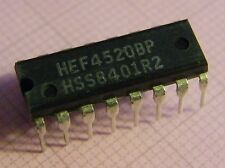 10x HEF4520BP Dual binary counter, Philips