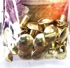 "10 Pack 1/4"" SOLID BRASS CHICAGO SCREWS 1290-01 Tandy Leather Belt Screw Post"