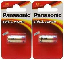 2 x Panasonic LR1 Battery 1.5V (N Type / MN9100) (2 Batteries) - New