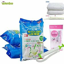 Wenbo Vacuum Compression Storage Bag 2 Medium +  Manual Pump