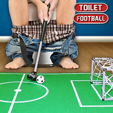 Bathroom Mini Toilet Humour Football Goal Net Mens Fun Adult Novelty Gift Toy