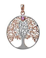 Anhänger Lebensbaum Silber rosé + einem kleinen Amethyst mit Symbolik f Kette