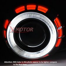 "Ford Headlight Retrofit Projector Bi Xenon Dual CCFL Halo Ring 2.5"" H1 HID RED"