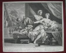Acquaforte di L. Desplaces: l'amore di Achille e deidami, 1721/Etching Love