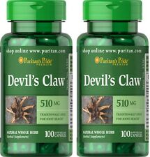 2X Devil's Claw 510 mg  x 100 ( 200 ) Capsules  Puritan Pride - 24HR DISPATCH