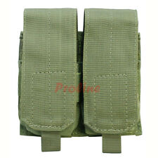 Molle Tactical 7.62 NATO 308 Rifle Double Magazine Mag Pouch Close Flap -ODGREEN