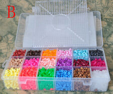 5400pcs 5mm Hama/perler beads 18 colors Bead with big square pegboards+hot paper