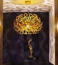 Aluminium Deckenlampe Gesamthöhe von 40 - 100 cm / Ø 55 cm / Rund o. gefächert