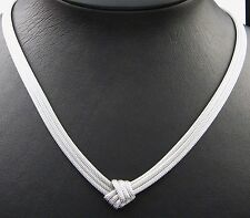 NECKLACE IN SOLID STERLING SILVER 925 KNITTED WIRE