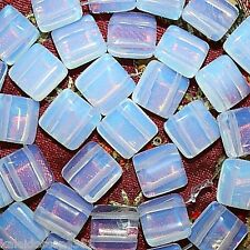 OPALITE BEADS DOUBLE STRAND SQUARE 2 HOLE 10MM BEAD