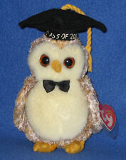 TY SMARTER the OWL BEANIE BABY - MINT with MINT TAG