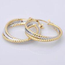 14K Yellow Gold Filled   Women Jewelry Hoop Earrings E044