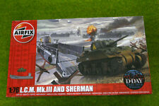 WWII L.C.M. Mk. III and SHERMAN 1/72 Scale Airfix Model Kit A03301