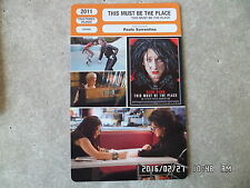 CARTE FICHE CINEMA 2011 THIS MUST BE THE PLACE Sean Penn Frances McDormand