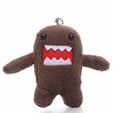 Soft Domo Kun Plush Bags Ornament Collecible Anime Chain Mini Doll Toy 4'' Brown