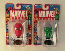 Set of 2 Spiderman and Green Goblin Marvel Heroes Swicherz Self Stick  Busts
