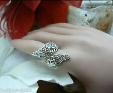 Christmas Gifts daughter mum Silver Angels Wings Crystals Ring Unusual for her