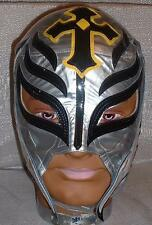 WWE REY MYSTERIO Pro-Grade Leather Adult SILVER MASK
